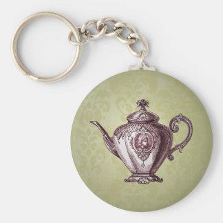 Vintage viktorianische Teekanne Schlüsselanhänger