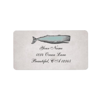 Vintage viktorianische Wal-Strand-Adresse Adressetiketten