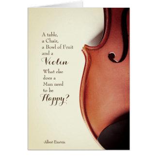 Vintage Violinen-Zitat-Karte Grußkarte