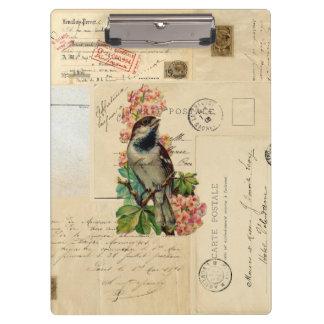 Vintage Vogel-Blumen-französisches