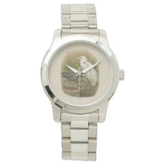Vintage Vögel der Wissenschafts-NZ - NZ Reiher-Uhr Uhr