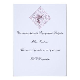 Vintage Vogel-Entwurfs-Verlobungs-Party Einladung