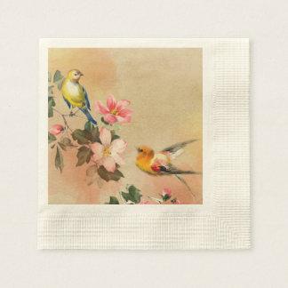 Vintage Vogel-Servietten Papierserviette