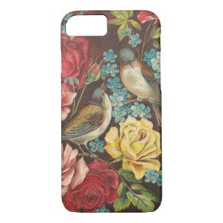 Vintage Vögel und Blumen iPhone 8/7 Hülle