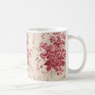 Vintage Wallpaper Flowers sauve Mug Blanc