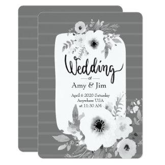 Vintage Watercolor-Hochzeits-Einladung Karte