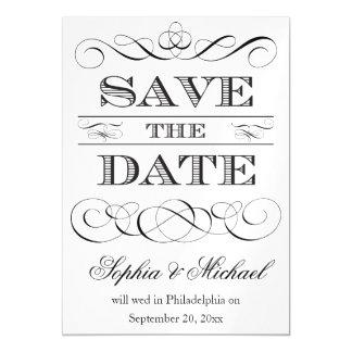 Vintage Wedding Typografie Save the Date Magnetische Karte
