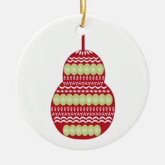 Vintage Weihnachtsbirne Keramik Ornament
