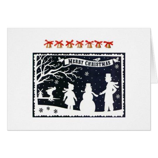 Vintage Weihnachtsgruß Karte