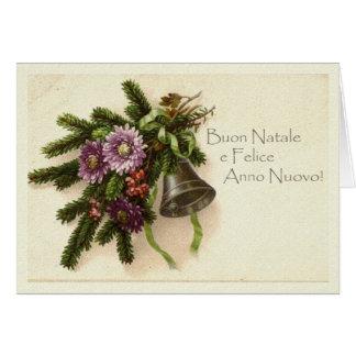 Vintage Weihnachtskarte auf italienisch Grußkarte