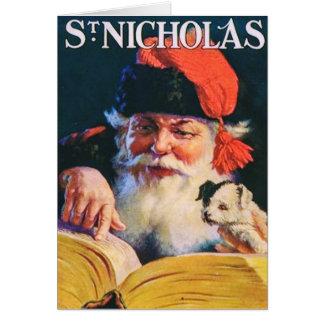 Vintage Weihnachtskarte mit Titelseite 1921 Grußkarte