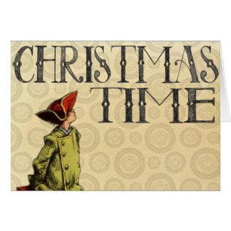 """Vintage Weihnachtskarte """"Weihnachtszeit """" Karte"""