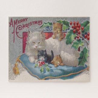 Vintage Weihnachtskatzen, Kitty