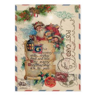 Vintage Weihnachtsluftpost-Postkarte Postkarte