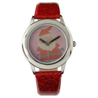 Vintage Weihnachtsmann-Uhr Uhr