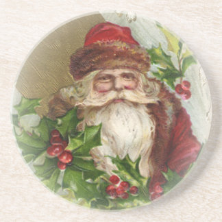 Vintage Weihnachtsmann-WeihnachtsUntersetzer Getränkeuntersetzer