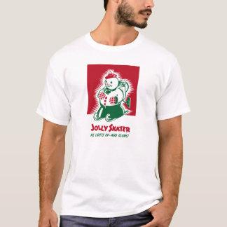 Vintage Weihnachtssnowman-Grafik T-Shirt