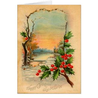 Vintage Weihnachtswinter-Karte Karte