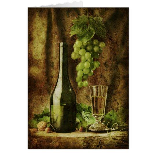 Vintage Wein Karte