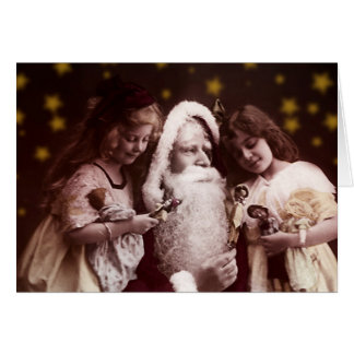 Vintage Weinachtskarte Santa Claus Karte