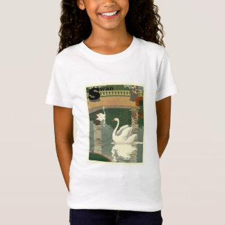 Vintage weiße Schwäne T-Shirt