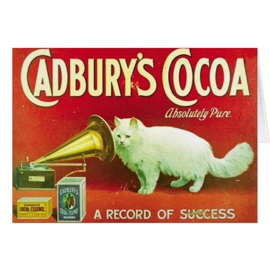 Vintage weißen Katze Cadburys Grußkarte
