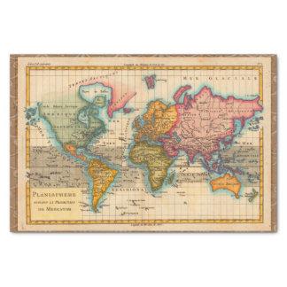 Vintage Weltkarte Seidenpapier