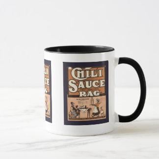 Vintage Werbung, Chili-Soße-Lappen Tasse