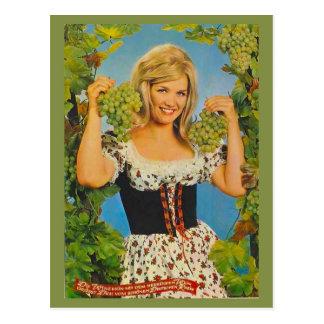 Vintage Werbung der Replik, bayerisches Mädchen, T Postkarte