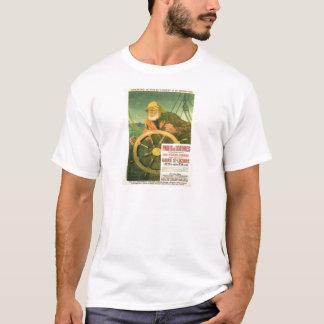 Vintage Werbung, französische Eisenbahnen T-Shirt