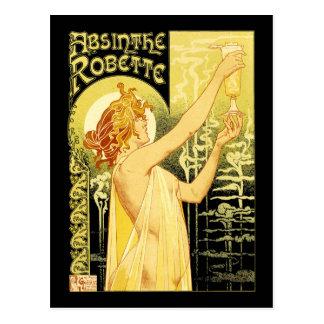 Vintage Wermut-Plakat-Kunst Postkarte