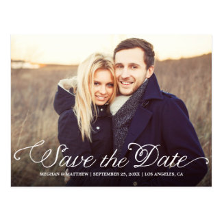 Vintage Whimsy | Foto-Save the Date Postkarte