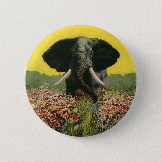 Vintage wilde Tiere, Kobra-Schlangen-afrikanischer Runder Button 5,1 Cm