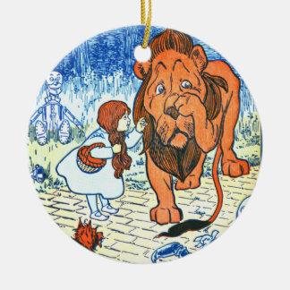 Vintage Zauberer- von Ozillustration - Dorothy u. Rundes Keramik Ornament