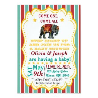 Vintage Zirkus-Baby-Duschen-Einladung Karte