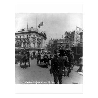 Vintage Zirkus-Straßenszene 1901 Londons Postkarte