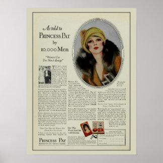 Vintage Zwanzigerjahre Kosmetik-Zeitschriftenanzei Poster