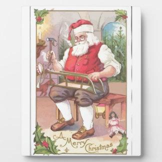 Vintagen frohen Weihnachten Weihnachtsmann Fotoplatte