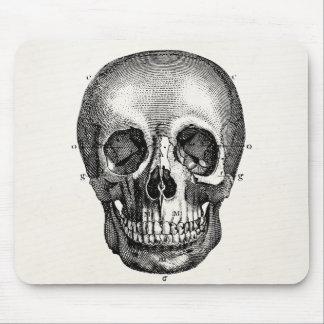 Vintager 1800s Schädel-Retro Schädel Skeleton Mauspads