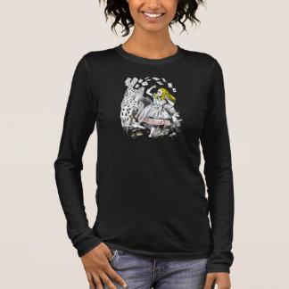 Vintager Alice im Wunderland-Spielkarte-T - Shirt