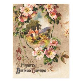 Vintager alles- Gute zum Geburtstagkarten-Gruß Postkarte