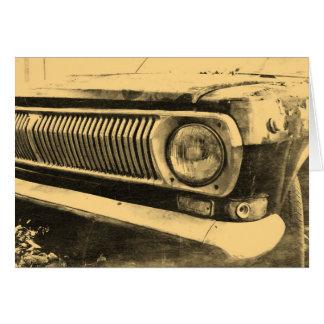 Vintager alter klassischer Auto-Scheinwerfer Karte