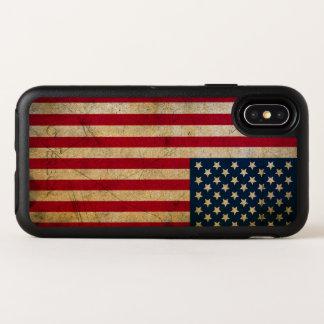 Vintager amerikanische Flaggen-Apple iPhone X Fall OtterBox Symmetry iPhone X Hülle