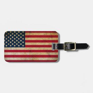 Vintager amerikanische Flaggen-Gepäck-Umbau Kofferanhänger