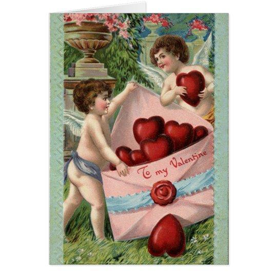 Vintager AmorenValentine Grußkarte