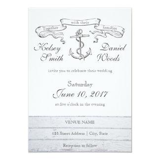 Vintager Anker-See| Wedding Einladung