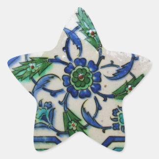 Vintager antiker Ottoman-Fliesen-Entwurf Stern-Aufkleber