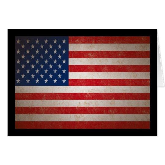 Vintager Art-amerikanische Flaggen-patriotischer Grußkarte