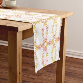 Vintager Art-Pastellrosa-Blumentabellen-Läufer Kurzer Tischläufer