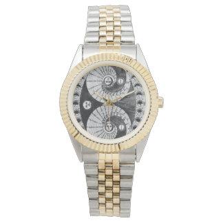 Vintager Astronomie Kircher Lunation Armbanduhr